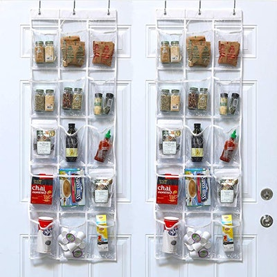 SimpleHouseware Clear Over-The-Door Pantry Organizer (2-Pack)