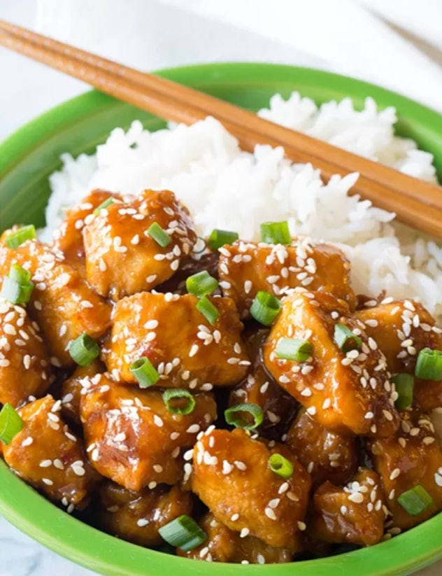 Instant Pot sesame chicken can be an appetizer or a big meal for the Super Bowl