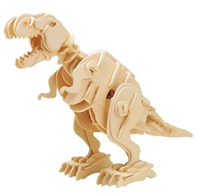 ROBOTIME Walking Trex Dinosaur 3D Wooden Craft Kit Puzzle