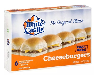 White Castle Microwaveable Frozen Cheeseburgers