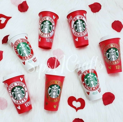 Valentine's Day Starbucks Cup