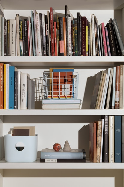 Basket and bin from home organization brand, Open Spaces.