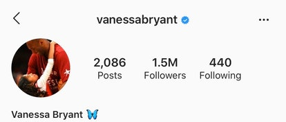 Vanessa Bryant made her Instagram public on Wednesday, three days after her husband and daughter died in a helicopter crash.