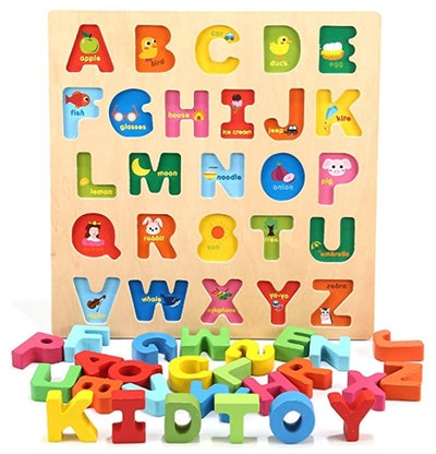 Jamohom Wooden 26 Letters Puzzles Educational Toys