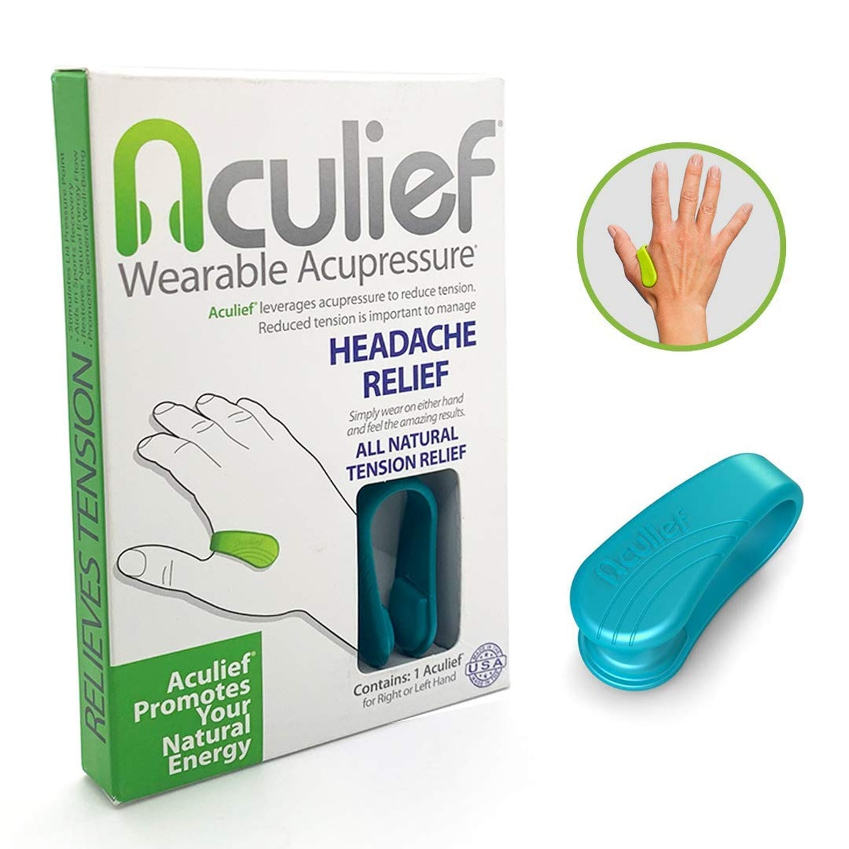 Headache, Migraine and Tension Relief - Wearable Acupressure