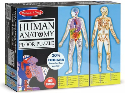 Melissa & Doug Human Anatomy 2-Sided Jumbo Floor Puzzle