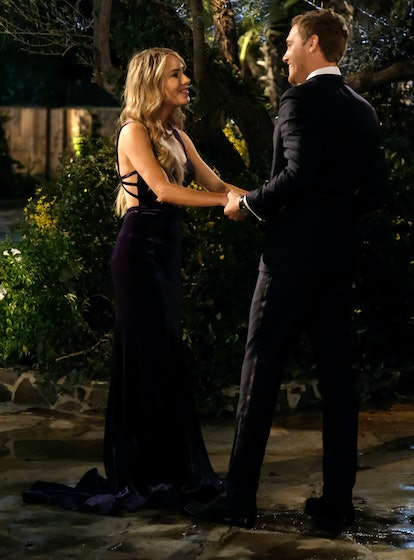 The Bachelor's Victoria P. also switched up the color scheme with an eggplant gown.