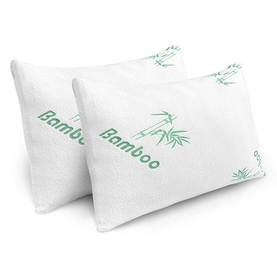 Plixio Cooling Shredded Memory Foam Bed Pillows (2-Pack)
