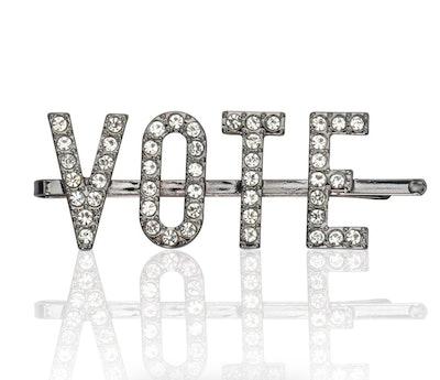 Kitsch x Justine Marjan VOTE Rhinestone Bobby Pin