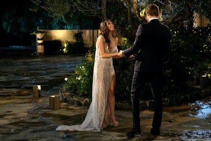 The Bachelor's Tammy wore a white lace gown.