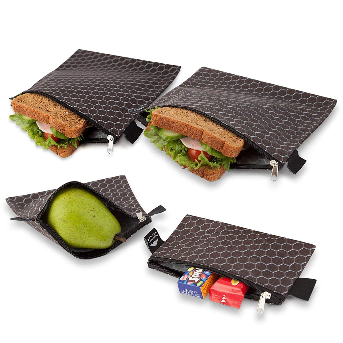 Nordic By Nature Reusable Sandwich Bags (4-Pack)