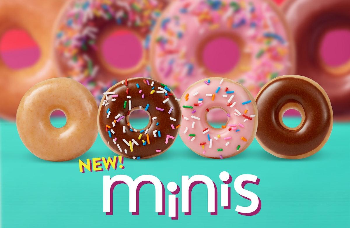 Krispy Kreme's New Mini Doughnuts Are Bite-Size Versions Of Your Faves