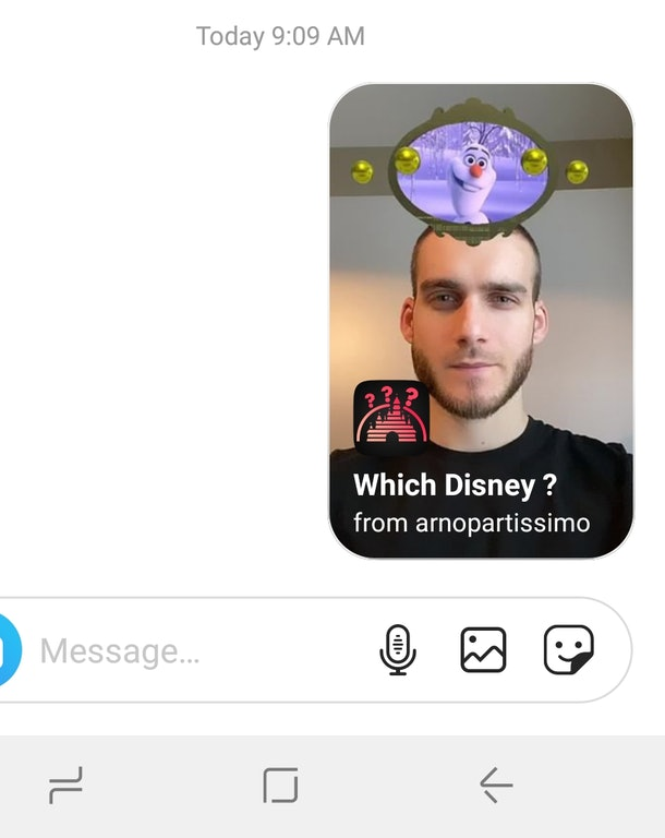 Here's How To Get The Instagram Disney Filter so you can send it to your friends.