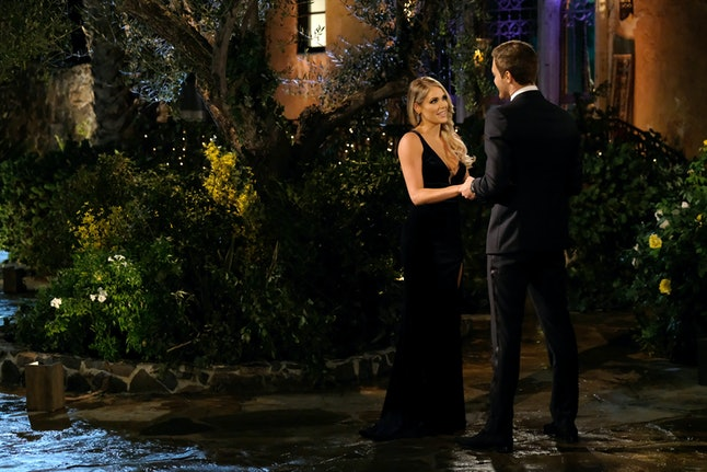 The Bachelor's Kelsey wore yet another black gown.