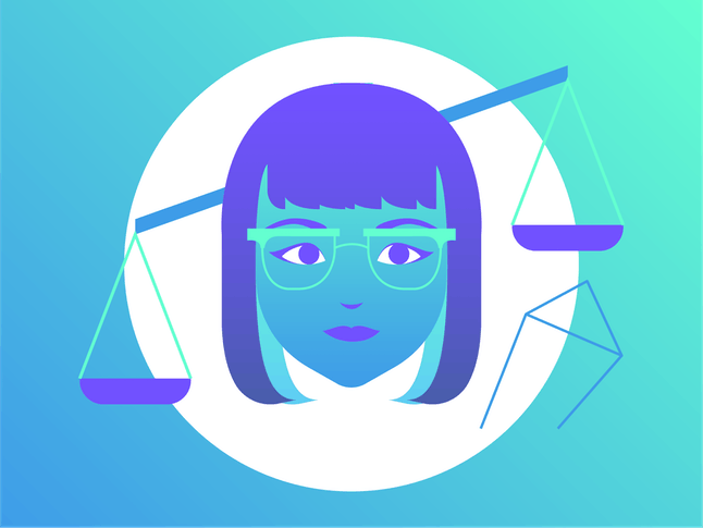Drawing of Libra for best goal-setting tip to follow for 2020.