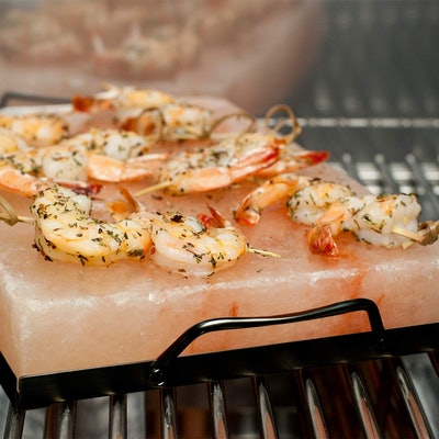 Charcoal Companion CC7167 Himalayan Salt Plate & Holder Set