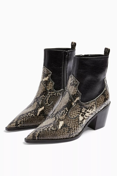 Snake Western Boots