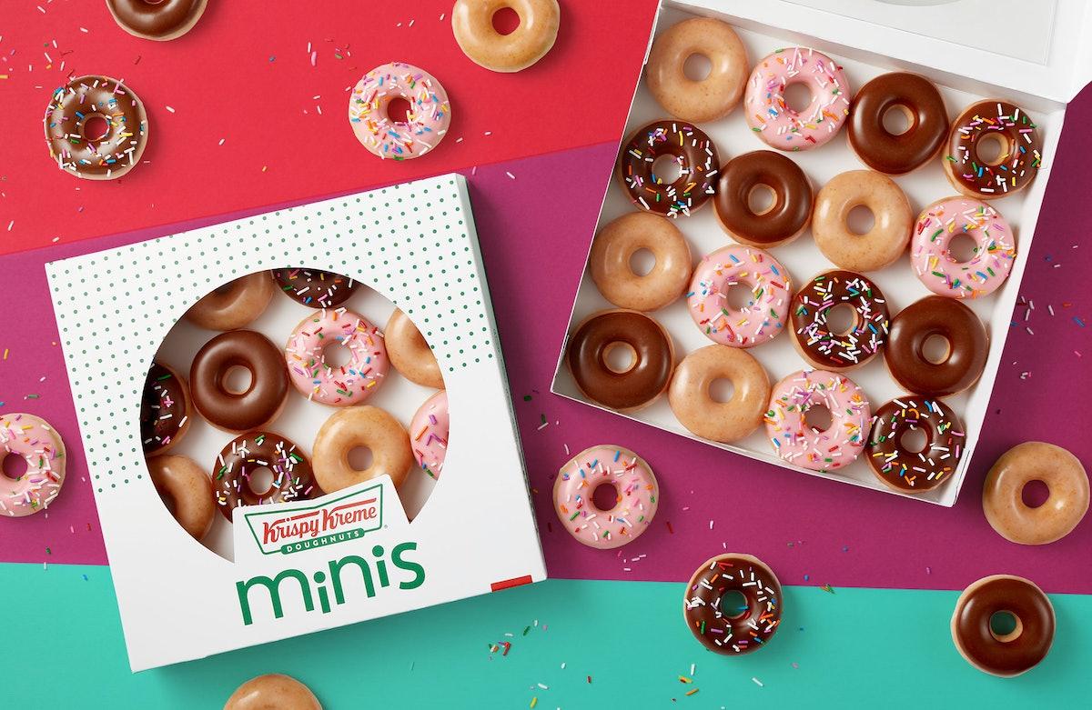 Krispy Kreme's January 2020 Happy Hours will get you a free mini doughnut.