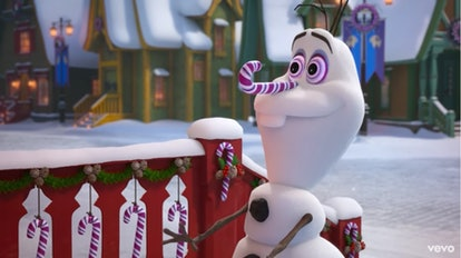 Kids love Olaf for his sweet disposition and his naivety.