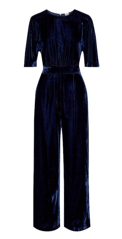 Iris & Ink Zara Velvet Wide Leg Jumpsuit