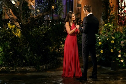 The Bachelor's Kelley chose a romantic red gown for the first night of the season.