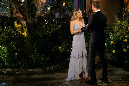 The Bachelor's Mykenna chose a brighter and lighter gown for the night.