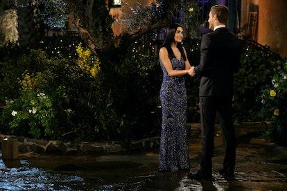 The Bachelor's Jade wore a glittering column dress.