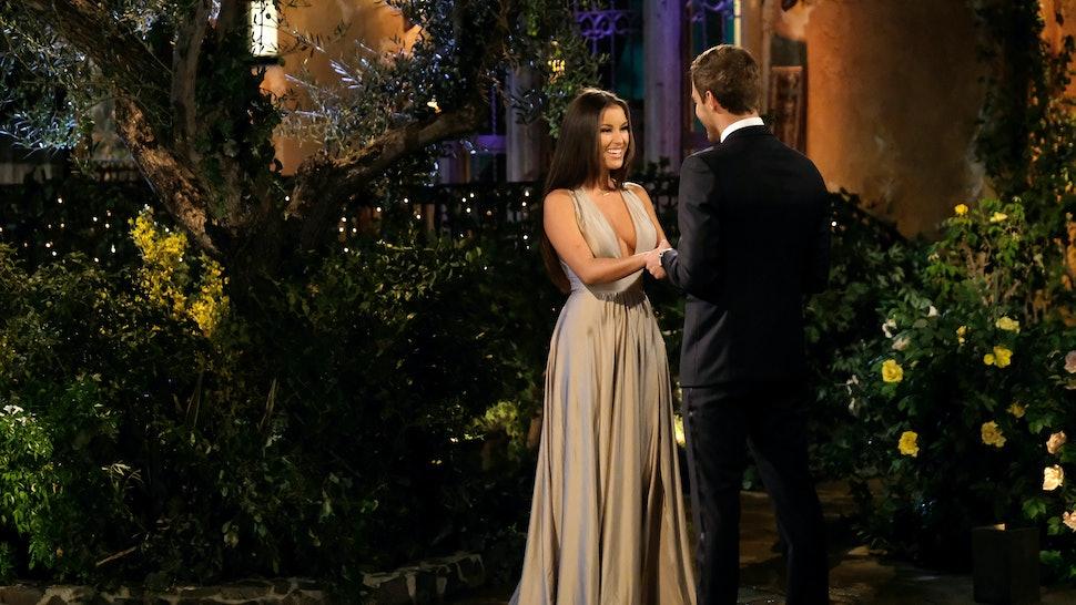 Alayah meeting Peter on The Bachelor