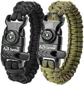 A2S Protection Paracord Bracelet (2-Pack)
