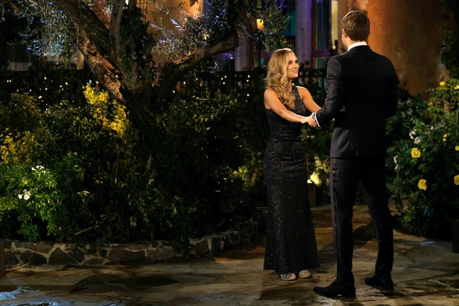 The Bachelor's Sarah wore a head-to-toe beaded gown.