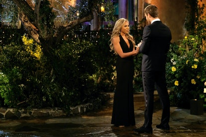 The Bachelor's Kiara wore a minimalist black gown.