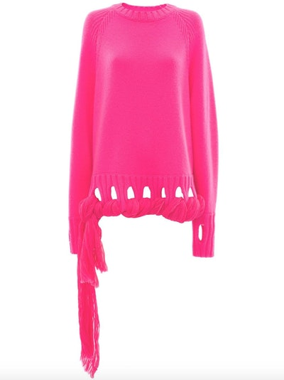 Georgette Drapes Crewneck Jumper