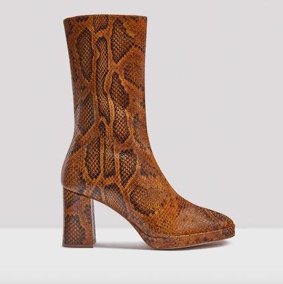 Carlota Citrine Snake Boots