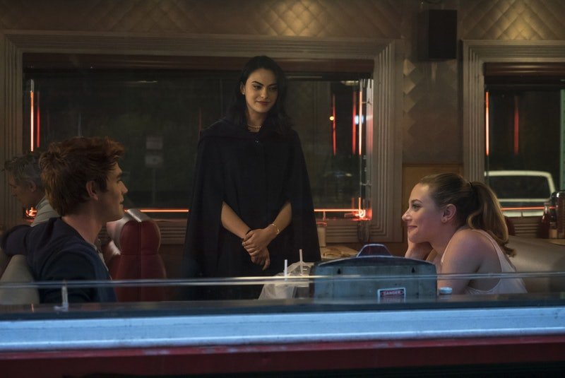KJ Apa as Archie, Camila Mendes as Veronica and Lili Reinhart as Betty in 'Riverdale'