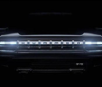GM gives a tease of its all-electric Hummer