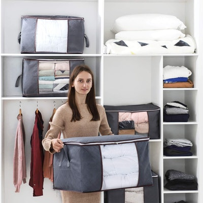 Lifewit Large-Capacity Clothes Storage Bag (3-Pack)