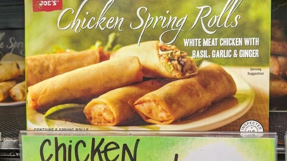 Chicken Spring Rolls from Trader Joe's