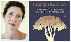 Bethany Saltman, left, and the cover of Strange Situation