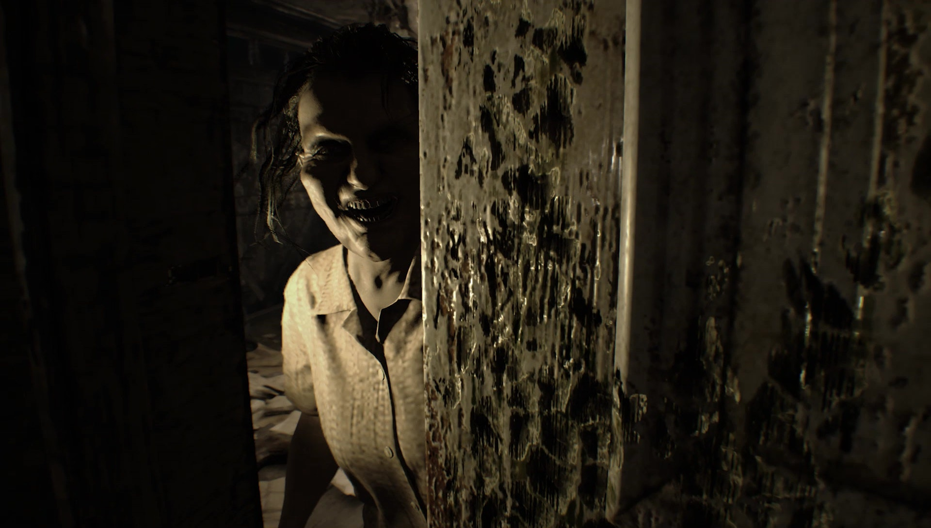 molded resident evil 7 wallpaper