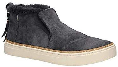 TOMS Forged Iron Grey Suede Women's Paxton Slip-Ons