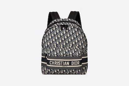 Blue DiorTravel Original Dior Oblique Technical Canvas Backpack