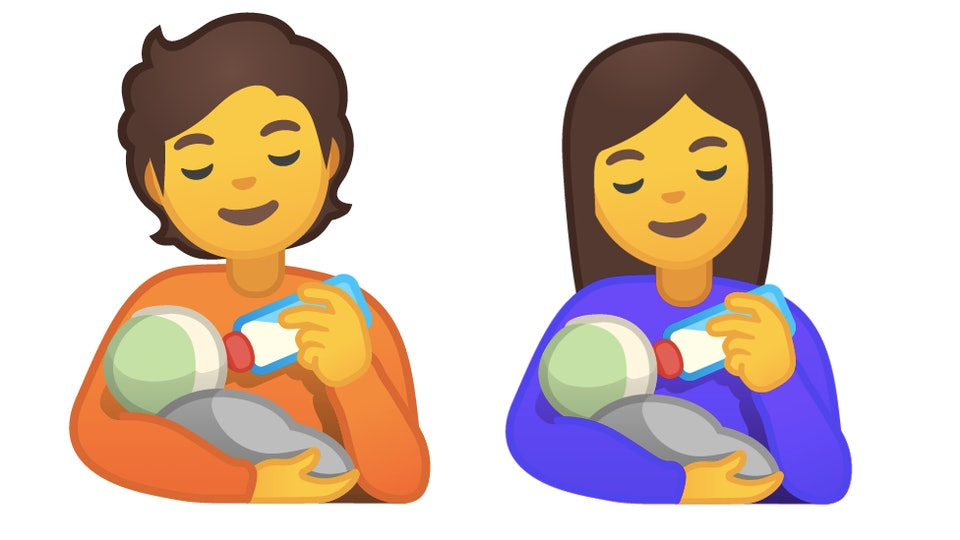 More than 100 new emojis are being launched in 2020, including a person bottle-feeding a baby.