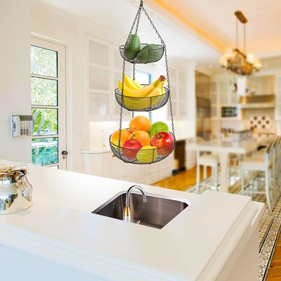 Caxxa 3-Tier Hanging Basket Fruit Organizer