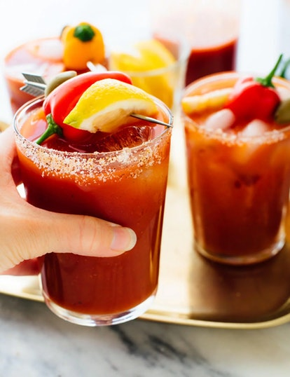 Cookie and Kate's bloody mary recipe is perfect for Super Bowl watch parties.