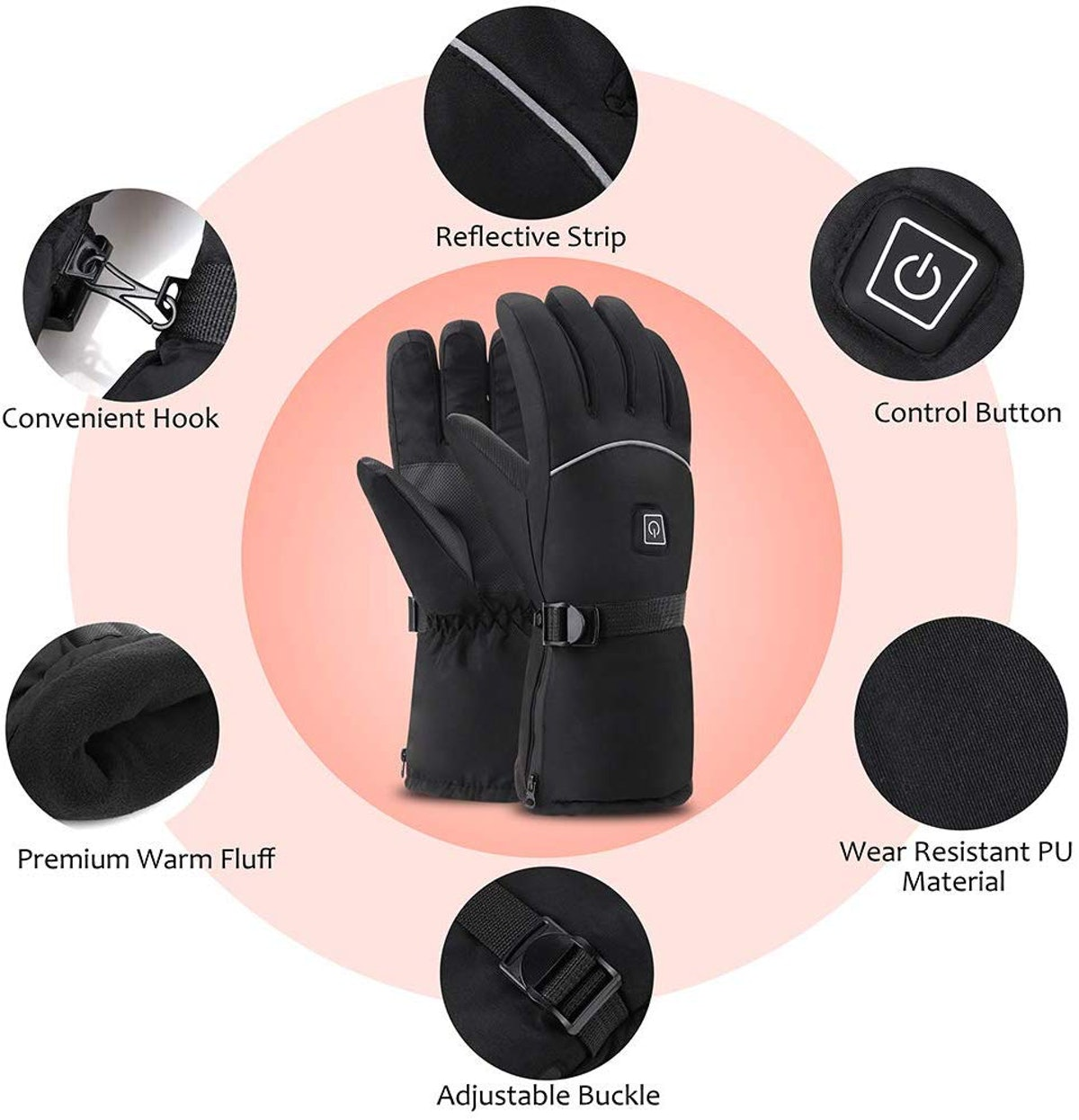 OYRGCIK Heated Winter Gloves
