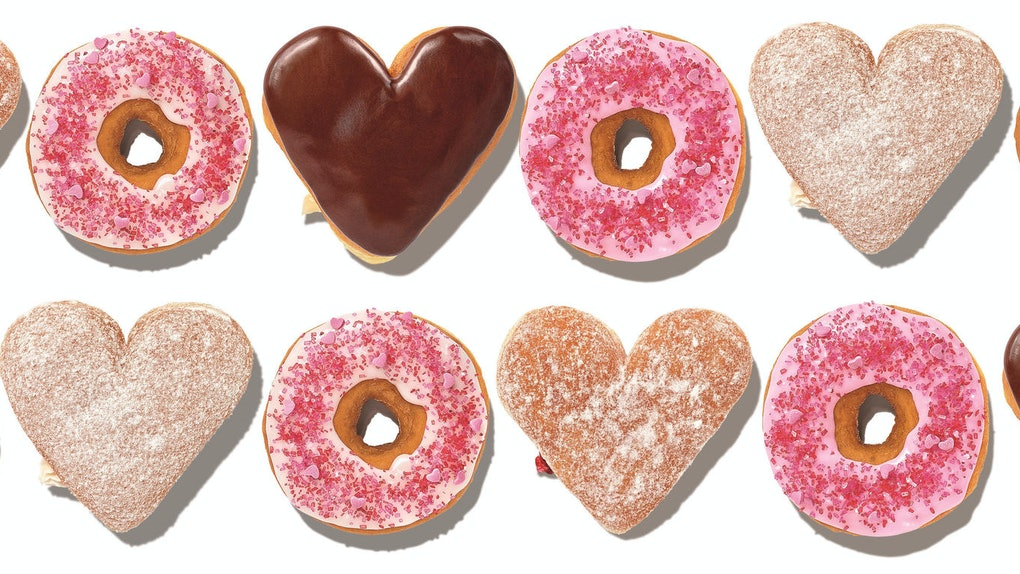 Dunkin's Valentine's Day 2020 Donuts includes heart-shaped treats.