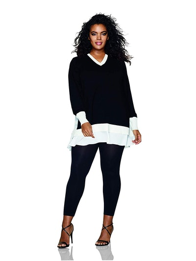 Hanes Women's Plus Size Footless Tights