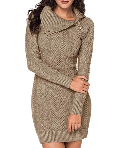 BLENCOT Cable Knit Sweater Dress