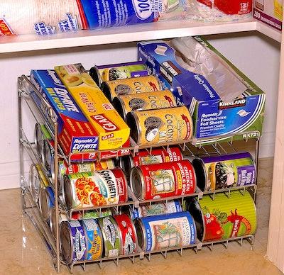 SimpleHouseware Stackable Can Rack Organizer