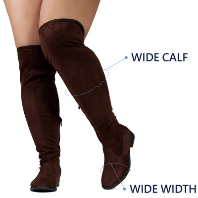 Room of Fashion Women's Wide Calf Over the Knee Riding Boots